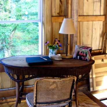 Writing space in the barn